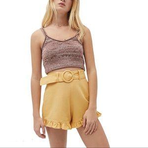 NWT Capulet Ruffle Hem Belted Shorts XS